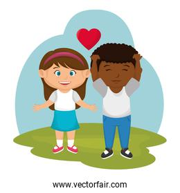 little couple lovers icon