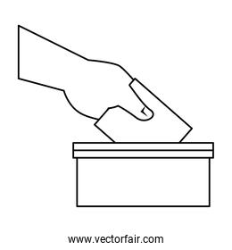 election urn isolated icon