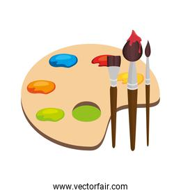 paint pallette school supply isolated icon