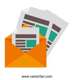 envelope letter isolated icon