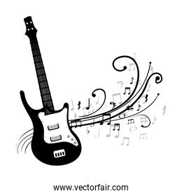 electric guitar isolated icon