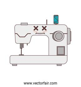 sewing machine comic character isolated icon