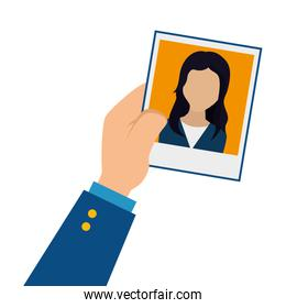 Photo of person for document