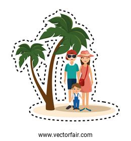 cute couple with summer clothes