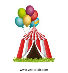 circus tent entertainment icon