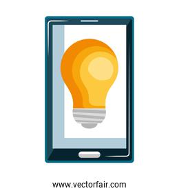 smartphone device with bulb isolated icon