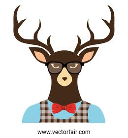 reindeer hipster style icon