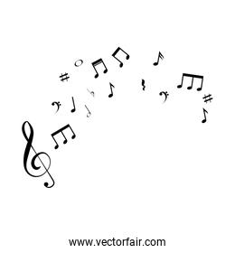 music notes isolated icon