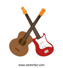 guitars instrument isolated icon