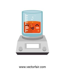 tube test glass character isolated icon