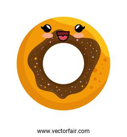 sweet donut character icon