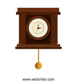 antique watch time isolated icon