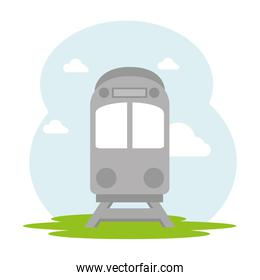 train vehicle isolated icon