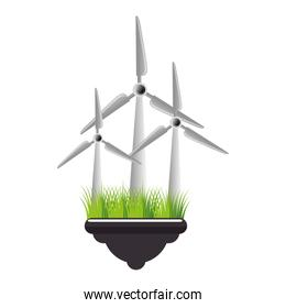 windmill energy ecology icon