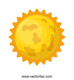 astronomical sun isolated icon