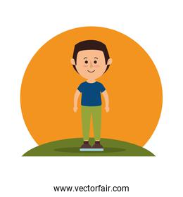 man avatar character isolated icon