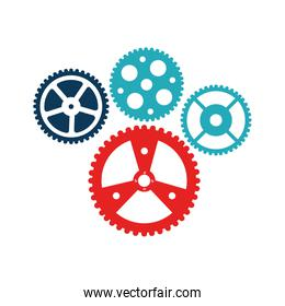 bicycle gears emblem icon