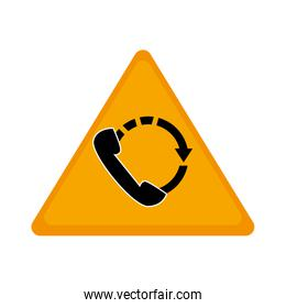 telephone sign isolated icon