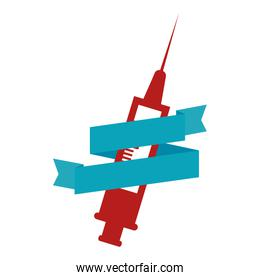 syringe medical isolated icon