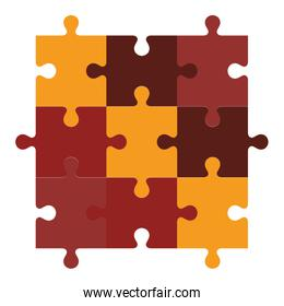 puzzle game pieces isolated icon