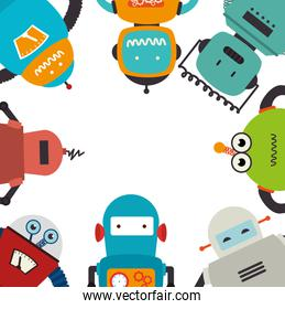 electronic robots card icon