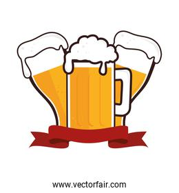 fresh beer drink icon