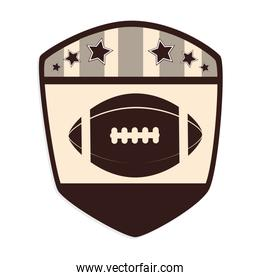 american football sport isolated icon