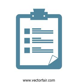 clipboard document isolated icon