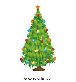 happy merry christmas tree card