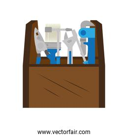 color silhouette with toolbox