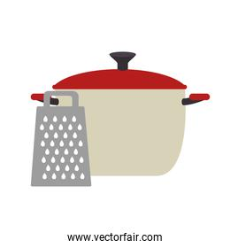 full color cooking pot with grater