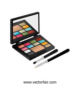 eye shadow set with brushes