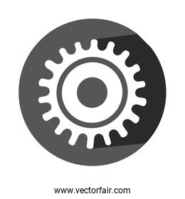 monochrome silhouette with gear of wheel