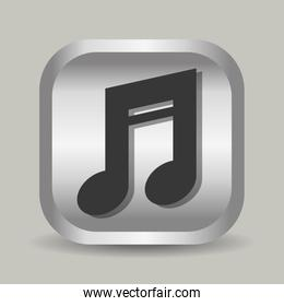 Music note Line icon