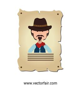 wanted wild west label