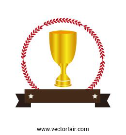 trophy winner isolated icon
