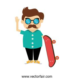 gentleman character hipster style