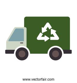 recycle truck ecology symbol icon