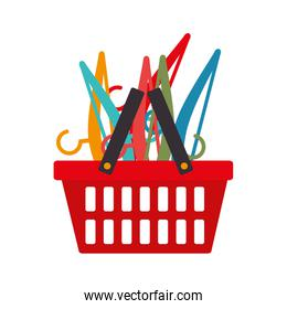 basket shopping commercial icon