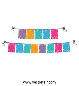 party garlands decoration icon