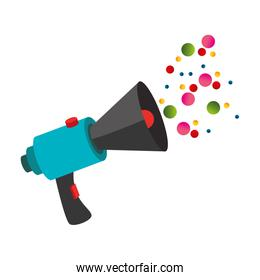 megaphone with message icon