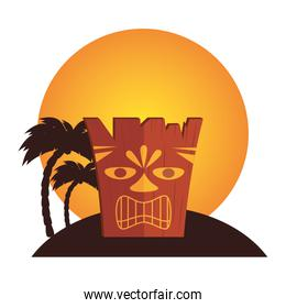 hawaii totem culture icon