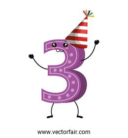 candle birthday number character