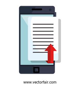 file manager with smartphone