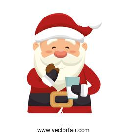 happy merry christmas santa claus card