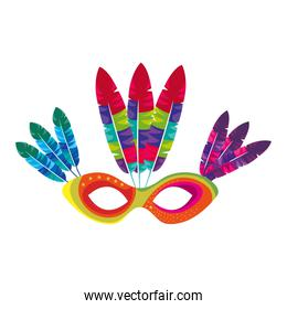 mask with feathers brazil culture