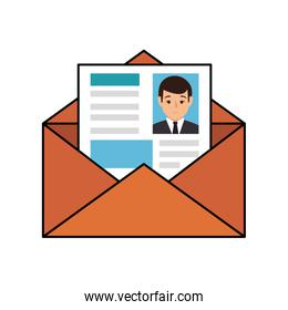 paper envelopes opened with cv sheet