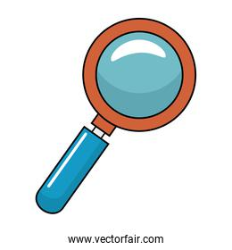 magnifying glass with with glitters