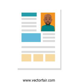 file info with curriculum vitae sheet