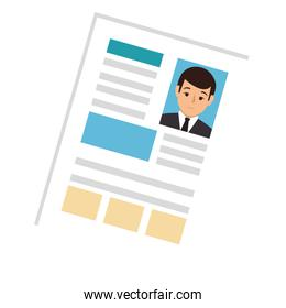 side view file info with curriculum vitae sheet